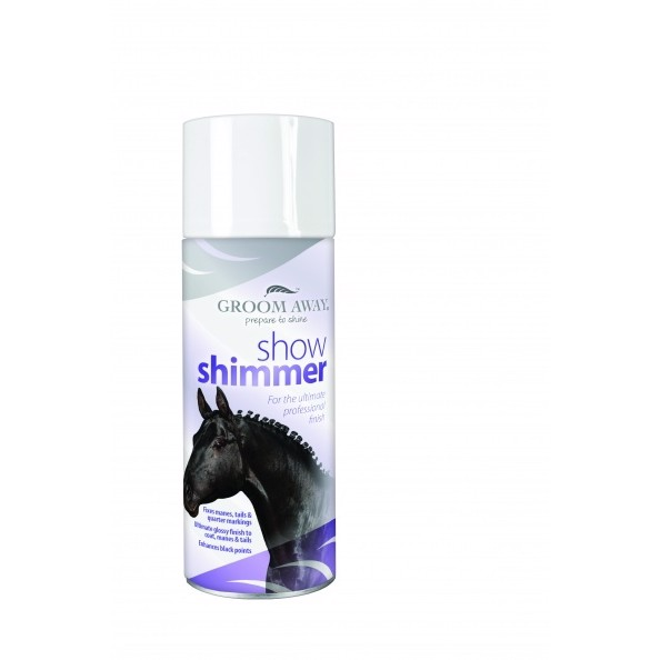 Horseware Groom Away showing shimmer spray