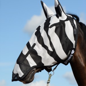 Buzz-Off Zebra Full Face Fly Mask