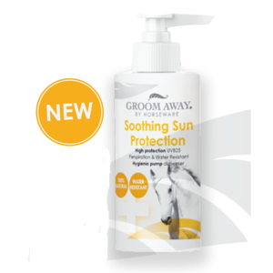 Horseware Groom Away Soothing Sun Protection Lotion med pumpe